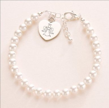 Engraved, Personalised Angel Bracelet | Someone Remembered
